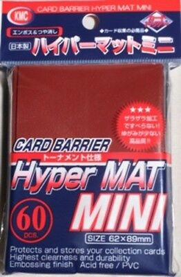 KMC Mini Sized Hyper Matte Red Sleeves 60 CT x1