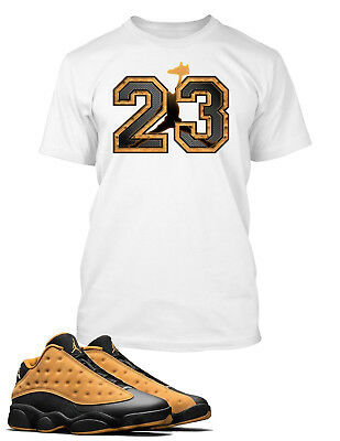 503c6ce83eb3 23 Graphic Tee Shirt to Match AIR JORDAN 13 LOW CHUTNEY Shoe Big and Tall or