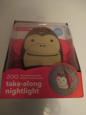 New Skip Hop Zoo Kids Take Along Nightlight Marshall Monkey Portable New in Box