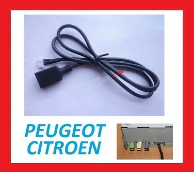 cable usb peugeot citroen autoradio rt6 rd5 rd45 rd43 aux. Black Bedroom Furniture Sets. Home Design Ideas