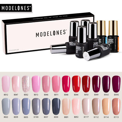 Modelones 8Pcs Set Soak Off UV Gel Nail Polish Varnish Long Lasting Starter Kit