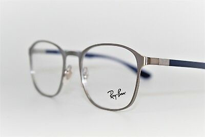 70a8d8ef5ef New Ray-Ban Rb 6357 2878 Silver blue Authentic Frames Eyeglasses 51Mm Rx