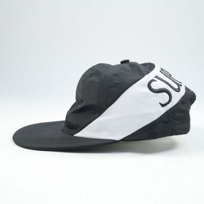 c959f529dbc SUPREME Nylon Arc 6-Panel Cap Black White FW17 SOLD OUT COLORWAY Brand New