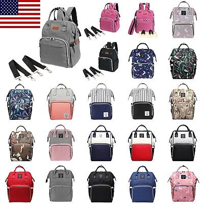 Lot style Mummy Maternity Nappy Diaper Bag Large Capacity Baby Travel Backpack