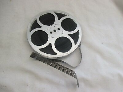 Vintage Film Reel Boy Scout Camping - Black & White