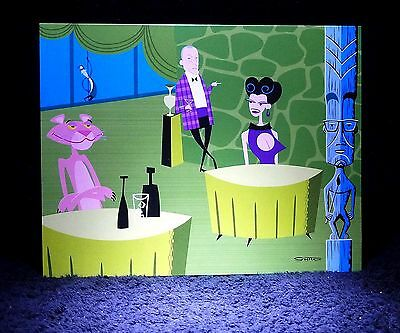 """SHAG Rare 2005 Pink Panther 40th """"SHARED DRINKS"""" Greeting Notecard Pop Card NEW"""