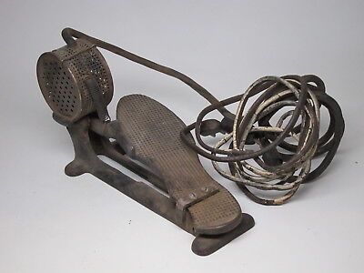 Antique Sewing Machine Electric Foot Pedal 1920s Cast Iron Peddle