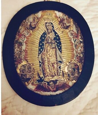 Nun's Badge Escudo De Monja 18th Century Painting , Spanish Colonial, Mexico
