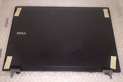 New Genuine Dell Latitude E6400 LCD Back Cover Lid  W/ Hinges Cables R150P K802R