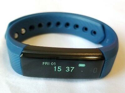 LETSCOM FITNESS TRACKER Smart Band USB-Charging Navy (GENTLY USED, PLEASE  READ)