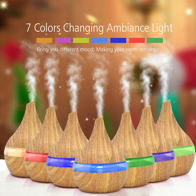 Air Aroma Essential Oil Diffuser Ultrasonic LED Aroma Aromatherapy Humidifier US