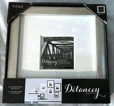 Azzure Picture Frame Nwt 4x4 Photo Table Top Silver Matte 795