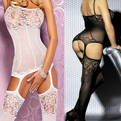 Women's Bodysuit Body Stocking Lingerie Fishnet Babydoll Nightwear Sleepwear Lot