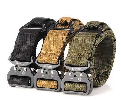 "ENNIU Men Tactical Belt Zine Alloy Buckle Military Nylon Belt Strap 49*1.49"" New"