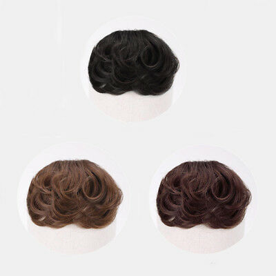 Women Wavy Curly Air Bangs Fringe Hairpiece Clip In Real Human Hair Extensions