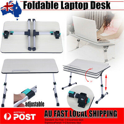 Portable Folding Laptop Desk Lap Table Bed Table Tray Sofa Computer Adjustable