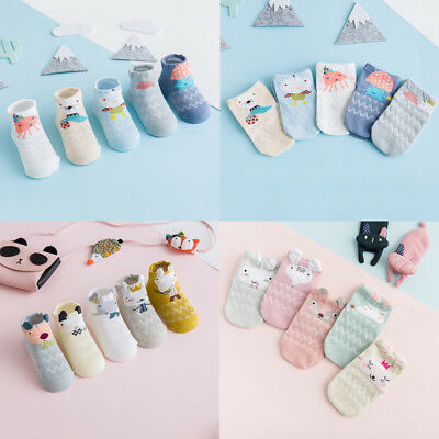 5 Pairs/set Lovely Baby Newborn Infant Toddler Kids Soft Cotton Socks 0-3 Years