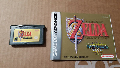 Legend of Zelda Link to the Past Four Swords Game + Manual Game Boy Advance GBA