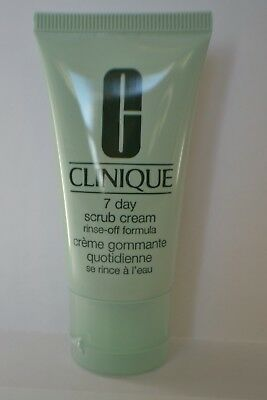 Clinique 7 day scrub cream rinse-off formula travel size 30ml