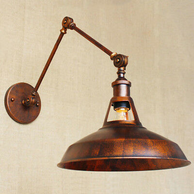 Vintage Industrial Copper Wall Light Swing Arm Wall Sconce Antique Barn Fixture