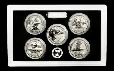 2018 -S Mint Silver Reverse Proof Quarter Set -(5 Coins) - with CoA! 90% SILVER!