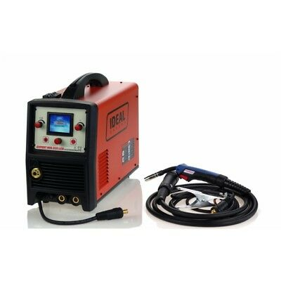 EXPERT MIG 215 LCD MIG/MMA/TIG SYNERGIC IDEAL Microprocessor for MIG-MAG, FLUX