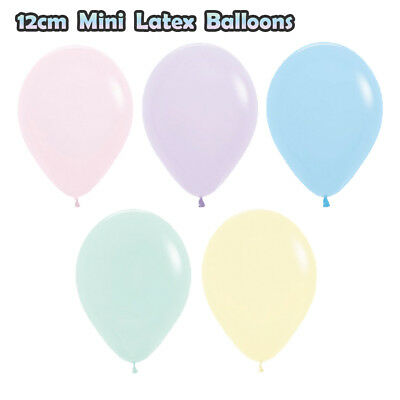 Pastel Matte Mini 12Cm Pack 10 Birthday Party Latex Balloons Icecream Mermaid