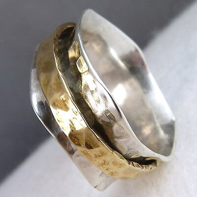 Narrow WAVE SPINNER US 7.25 SilverSari Fidget RING Solid 925 Stg Silver SPR1012