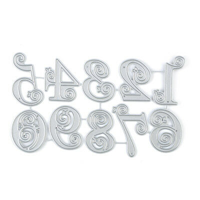 Silver Lace Numbers Metal Cutting Dies Stencil Scrapbooking Embossing Card Craft