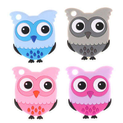 Owl Teethers Teething Accessory Chew Charms Baby Teether Toys BPA FREE FO