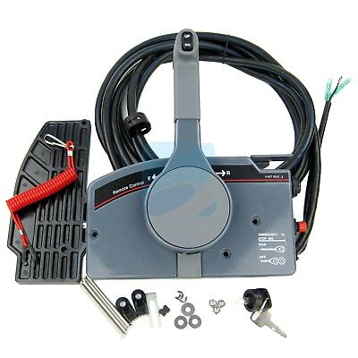 Boat Remote Control Box With 10Pin Cable Push Throttle for YAMAHA Outboard Motor