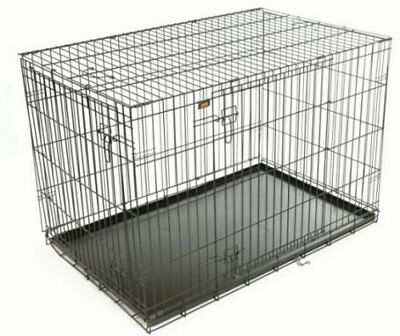 RAC Advanced Fold Flat Dog Cage/Carrier - Extra-Large. With a Strong Metal Tray