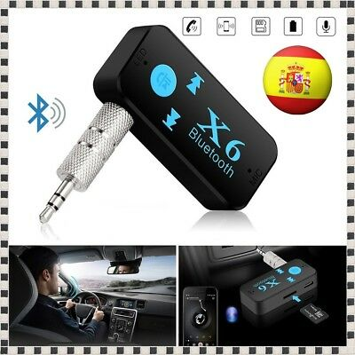 ADAPTADOR RECEPTOR BLUETOOTH 4.1 REPRODUCTOR MP3 TF SD COCHE JACK 3.5mm AUX MIC