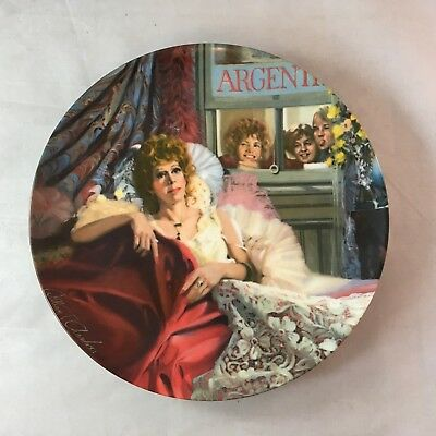 Edwin M Knowles Plate Little Orphan Annie & Miss Hannigan 1986 With COA