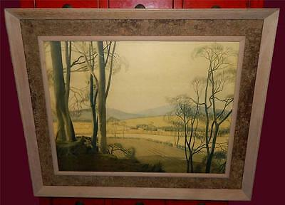 VINTAGE The Fringe Of The Downs after the painting  by MORGAN RENDLE Print