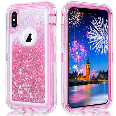 Bling 360 3 Layers Armor Case for iPhone XS Plus 2018/X 8 7 6s+ Heavy Duty Cover