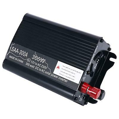 Car Solar Power Inverter 300W Auto Inverter 12V to AC 110V Universal AC Outlets