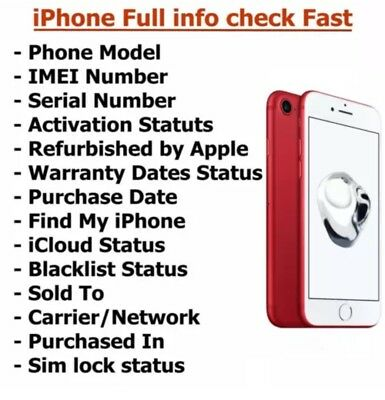Instant Fast IMEI CHECK IPHONE IPAD ICLOUD LOST OR STOLEN🇺🇸🇺🇸