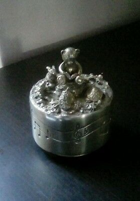 Royal Selangor Pewter Music Box Teddy Bears Picnic