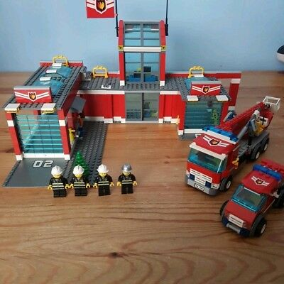 Lego City 7945 Fire Station 100 Complete 4367 Picclick Uk