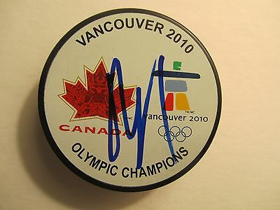 ROBERTO LUONGO Signed AUTOGRAPH CANADA GOLD 2010 Signed PUCK Florida PANTHERS