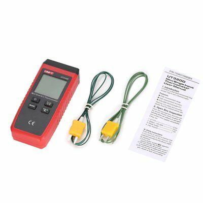 UNI-T K/J Type Dual-CH Digital Thermocouple Temperature Thermo Meter 0~260℃ ND
