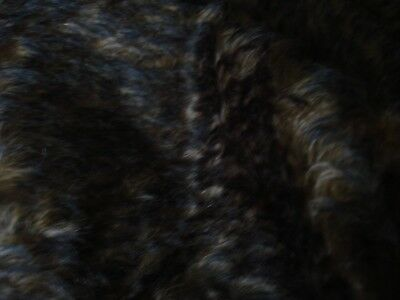 """Mohair tipped feathered  size 28""""x18""""  brown with real dark brown tips *20"""