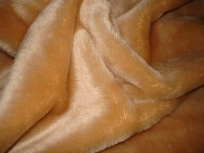 """Mohair for bearmaking 33""""x26"""" pile 1/4 """" fawn color so soft nice piece *12"""
