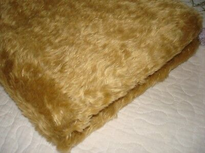 *7 Mohair naturlly curly 36 x 18 inch + cut offs  pile 1/2 inch nice piece