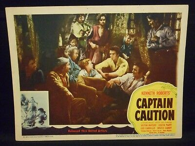 Alan Ladd Victor Mature Captain Caution 1940 Lobby Card Fine Pirate