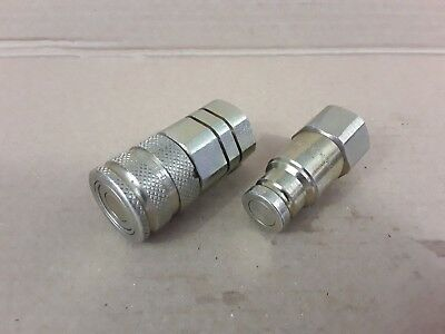 Set of Holmbury Flat Face QR Quick Release Hydraulic Coupling F-A9 3/8BSP *