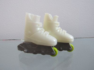 "Rollerblade White Roller Skates Shoes Footwear Fits/for 11.5"" Mattel Barbie Doll"
