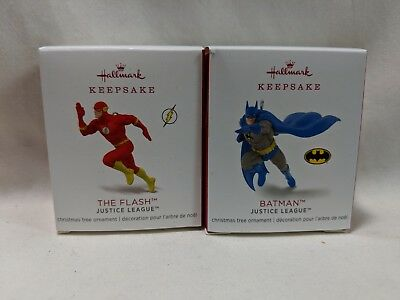2018 Hallmark Keepsake Mini Ornament The Flash & Batman Justice League