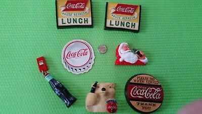 COCA-COLA Coke Magnets Vintage Polar Bear Santa Rubber Odd Lot Coke Bottle